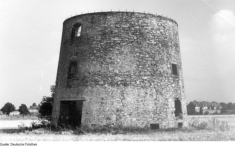 Die Ruine der Mühle von Bernbruch Kamenz im Mai 1965.