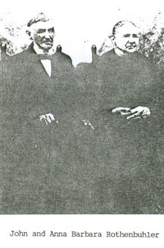 John William Ulrich Rothenbuhler und Anna Barbara Rothenbuhler